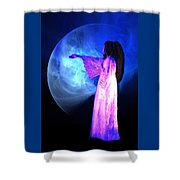 Dead Girl Shower Curtain by Lisa Yount