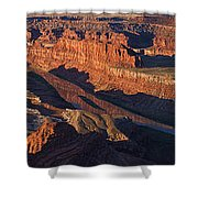 Dead Horse Point Sunrise Panorama Shower Curtain