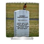Dead Robin Shower Curtain