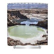 Dead Sea Sinkholes  Shower Curtain
