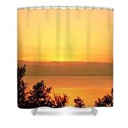 Dead Sea Sunset Shower Curtain