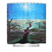 Dead Trees On The Moor Shower Curtain