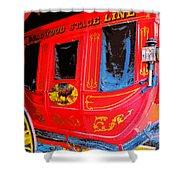 Deadwood Stagecoach Shower Curtain