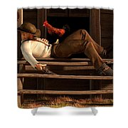 Deaf To The Rooster's Call Shower Curtain