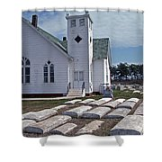 Deal Island Church Shower Curtain
