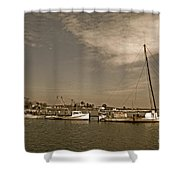 Deal Island Fishing Boats Shower Curtain