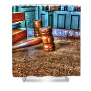 Dealing Justice Shower Curtain