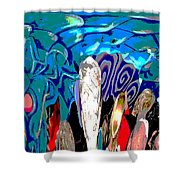 Dean Abstract Shower Curtain