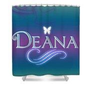 Deana Name Art Shower Curtain