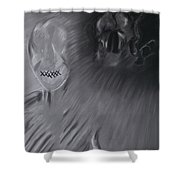 Death A Coward Shower Curtain