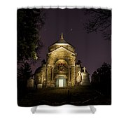 Death And Stars Shower Curtain