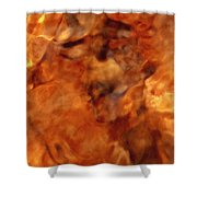 Death In Autumn Shower Curtain