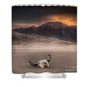 Death In The Desert Shower Curtain