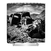 Death In The Valley Shower Curtain