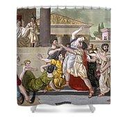 Death Of Virginia, Illustration Shower Curtain