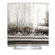 Death Valley Borax Mule Team Shower Curtain