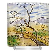 Death Valley- California Sketchbook Project Shower Curtain