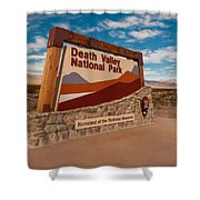 Death Valley Entry Shower Curtain