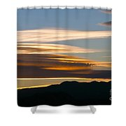 Death Valley Evening Sky Shower Curtain