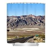 Death Valley Highway Shower Curtain
