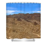 Death Valley Np Zabransky Point  Shower Curtain