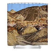 Death Valley Painted Mountains Shower Curtain