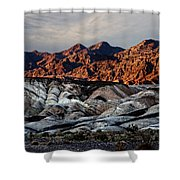 Death Valley Painted Rock Shower Curtain