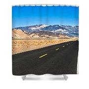 Death Valley Rd Shower Curtain