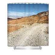 Death Valley Road Shower Curtain
