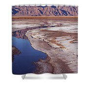 Death Valley Salt Stream 1-h Shower Curtain