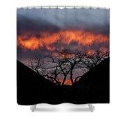 Death Valley Sunset Shower Curtain