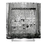 Death Warning Shower Curtain
