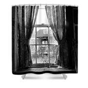 Deaths Window Shower Curtain