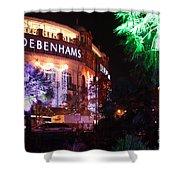 Debenhams Bournemouth At Christmas Shower Curtain