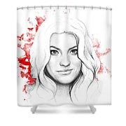 Debra Morgan - Dexter Shower Curtain by Olga Shvartsur