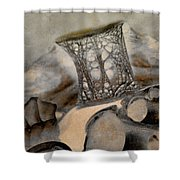 Debris 9b Shower Curtain