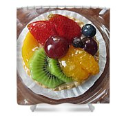 Decadent Fruit Tart Shower Curtain