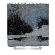 December Dusk Shower Curtain