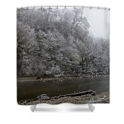 December Morning On The River Shower Curtain