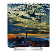 December Sunrise In Annapolis Shower Curtain