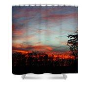 December Sunset Shower Curtain