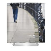 December Wandering Shower Curtain