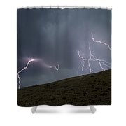 Decending Table Mountain   #8446 Shower Curtain