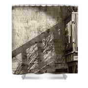 Deck Shadows Shower Curtain