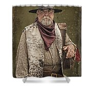 Decked Out For Whiskey Row Shootout Shower Curtain