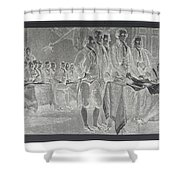 Declaration Of Independence In Negative Shower Curtain