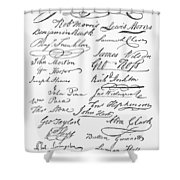 Declaration: Signatures Shower Curtain by Granger