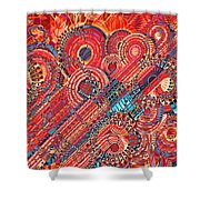Deco Flower Swirls Shower Curtain
