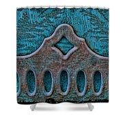 Deco Metal Blue Shower Curtain