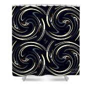 Deco Swirls Shower Curtain